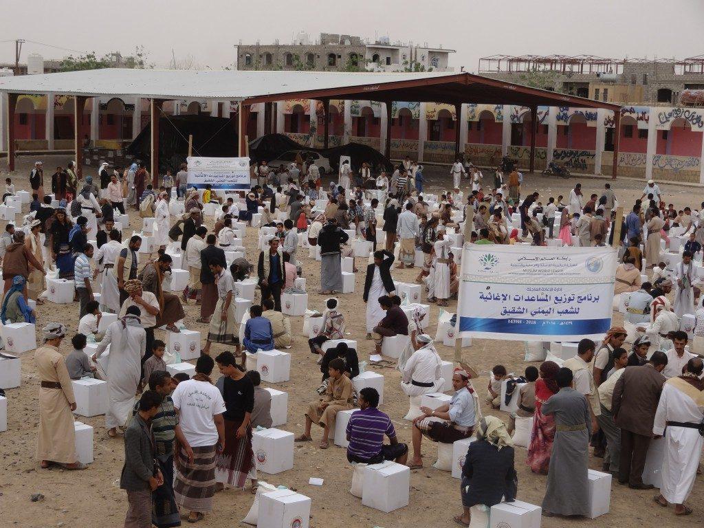 الهيئة العالمية للإغاثة تدشن برنامج توزيع المساعدات الإغاثية للشعب